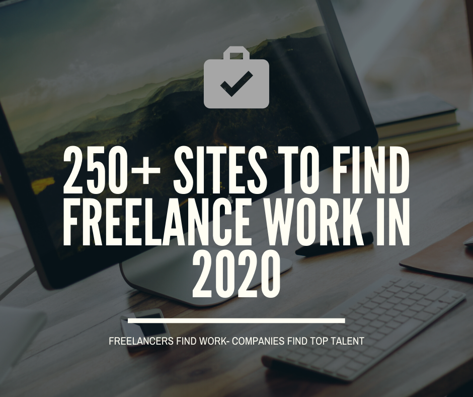 250+ Sites to find freelance work in 2020
